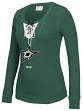 "Dallas Stars Women's NHL CCM ""Speckled"" Lace Up Long Sleeve Henley Shirt"