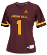 Arizona State Sun Devils Women's Adidas NCAA Football #1 Replica Jersey