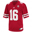 Nebraska Cornhuskers Adidas NCAA #16 Replica Football Jersey - Red