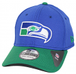 "Seattle Seahawks New Era NFL 39THIRTY ""Historic"" Throwback Flex Fit Hat - 2 Tone"
