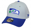 "Seattle Seahawks New Era NFL 39THIRTY ""Historic"" Throwback Flex Fit Hat - Gray"