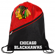 Chicago Blackhawks NCAA High End Diagonal Zipper Drawstring Backpack