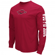 "Arkansas Razorbacks NCAA ""Cobra"" Long Sleeve Dual Blend Men's T-Shirt"