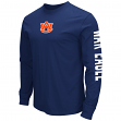 "Auburn Tigers NCAA ""Cobra"" Long Sleeve Dual Blend Men's T-Shirt"