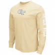 "Georgia Tech Yellowjackets NCAA ""Cobra"" Long Sleeve Dual Blend Men's T-Shirt"