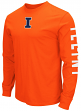 "Illinois Fighting Illini NCAA ""Cobra"" Long Sleeve Dual Blend Men's T-Shirt"