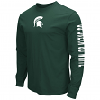 "Michigan State Spartans NCAA ""Cobra"" Long Sleeve Dual Blend Men's T-Shirt"