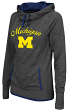"Michigan Wolverines Women's NCAA ""Buggin"" Cowl Neck Hooded Sweatshirt"