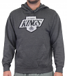 Los Angeles Kings Majestic NHL Vintage Felt Tek Patch Hooded Charcoal Sweatshirt