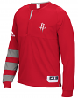Houston Rockets Adidas 2016 NBA Men's On-Court Authentic L/S Shooting Shirt
