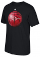 "Houston Rockets Adidas NBA ""Logo Ball"" Premium Print S/S Men's T-Shirt"