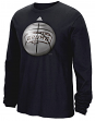 "San Antonio Spurs Adidas NBA ""Logo Ball"" Premium Print L/S Men's T-Shirt"