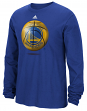"Golden State Warriors Adidas NBA ""Logo Ball"" Premium Print L/S Men's T-Shirt"