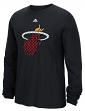 "Miami Heat Adidas NBA ""Tech Quilt"" Premium Print L/S Men's T-Shirt"