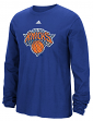"New York Knicks Adidas NBA ""Tech Quilt"" Premium Print L/S Men's T-Shirt"