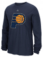 "Indiana Pacers Adidas NBA ""Tech Quilt"" Premium Print L/S Men's T-Shirt"