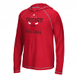 "Chicago Bulls Adidas NBA ""Fade Away"" Men's Climalite Hooded Long Sleeve Shirt"