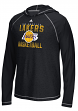 "Los Angeles Lakers Adidas NBA ""Fade Away"" Men's Climalite Hooded L/S Shirt"