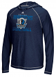 "Dallas Mavericks Adidas NBA ""Fade Away"" Men's Climalite Hooded Long Sleeve Shirt"