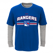 "New York Rangers Youth NHL ""Bleachers"" L/S Faux Layer Thermal Shirt"