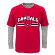 "Washington Capitals Youth NHL ""Bleachers"" L/S Faux Layer Thermal Shirt"