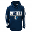 "Dallas Mavericks Youth NBA Adidas ""Playbook"" Pullover Performance Sweatshirt"