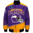 "Minnesota Vikings Men's NFL G-III ""Enforcer"" Premium Twill Jacket"