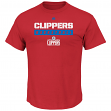 """Los Angeles Clippers Majestic NBA """"Proven Pastime"""" Short Sleeve Men's T-Shirt"""
