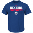 "Philadelphia 76ers Majestic NBA ""Proven Pastime"" Short Sleeve Men's T-Shirt"