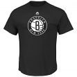 "Brooklyn Nets Majestic NBA ""Supreme Logo"" Men's Short Sleeve T-Shirt - Black"