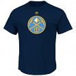 "Denver Nuggets Majestic NBA ""Supreme Logo"" Men's Short Sleeve T-Shirt - Navy"