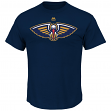 "New Orleans Pelicans Majestic NBA ""Supreme Logo"" Men's Short Sleeve T-Shirt"