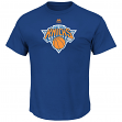 "New York Knicks Majestic NBA ""Supreme Logo"" Men's Short Sleeve T-Shirt - Blue"