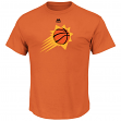 "Phoenix Suns Majestic NBA ""Supreme Logo"" Men's Short Sleeve T-Shirt - Orange"