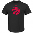 "Toronto Raptors Majestic NBA ""Supreme Logo"" Men's Short Sleeve T-Shirt - Black"