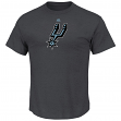"San Antonio Spurs Majestic NBA ""Supreme Logo"" Men's S/S T-Shirt - Charcoal"