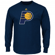 "Indiana Pacers Majestic NBA ""Supreme Logo"" Men's Long Sleeve T-Shirt - Navy"