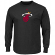 "Miami Heat Majestic NBA ""Supreme Logo"" Men's Long Sleeve T-Shirt - Black"
