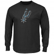 "San Antonio Spurs Majestic NBA ""Supreme Logo"" Men's Long Sleeve T-Shirt - Black"