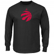 "Toronto Raptors Majestic NBA ""Supreme Logo"" Men's Long Sleeve T-Shirt - Black"