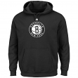 "Brooklyn Nets Majestic NBA ""Supreme Logo"" Men's Pullover Hooded Sweatshirt"