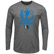 "Dallas Mavericks Majestic NBA ""Victory"" Men's Long Sleeve Performance T-Shirt"
