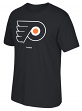"Philadelphia Flyers Reebok NHL ""Jersey Crest"" Men's Short Sleeve Black T-Shirt"