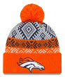 "Denver Broncos New Era NFL ""Retro Pom"" Cuffed Knit Hat with Pom"