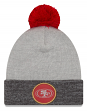 "San Francisco 49ers New Era NFL ""Heathered Pom"" Cuffed Knit Hat with Pom"