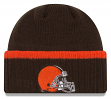 """Cleveland Browns New Era NFL """"Ribbed Up Team"""" Cuffed Knit Hat"""
