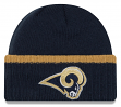 "Los Angeles Rams New Era NFL ""Ribbed Up Team"" Cuffed Knit Hat"