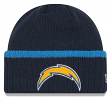 "San Diego Chargers New Era NFL ""Ribbed Up Team"" Cuffed Knit Hat"