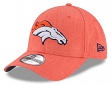 "Denver Broncos New Era 9Forty NFL ""Heather Crisp"" Adjustable Hat"