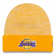 "Los Angeles Lakers New Era NBA ""Team Rapid"" Hardwood Classics Cuffed Knit Hat"